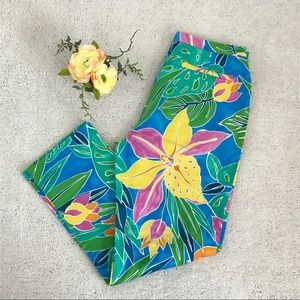 Lauren Ralph Lauren Floral Multi Color Pants!